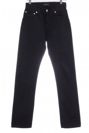 Energie Straight-Leg Jeans schwarz-weiß Streifenmuster Casual-Look