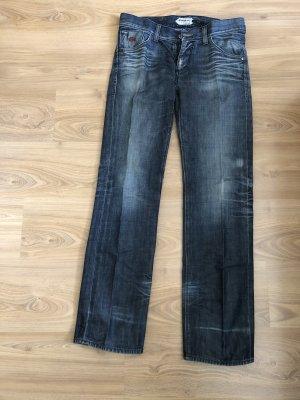 Energy Jeanshose 32/34 blau weiss