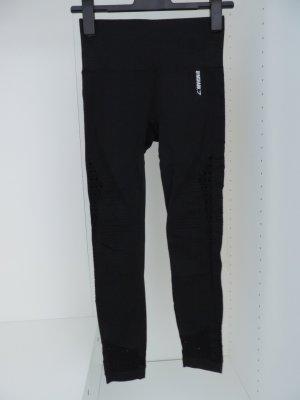 GYMSHARK pantalonera negro-blanco