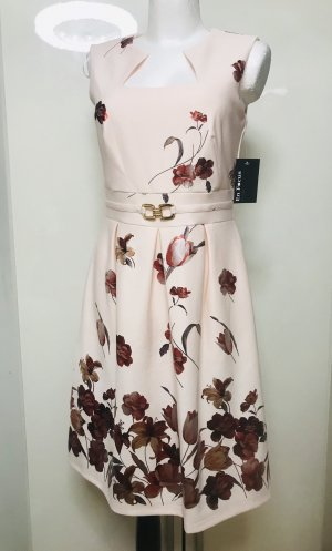 Enfocus Damen Kleid Rosa mit metallic Blumen S/M