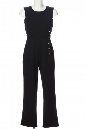 ENFOCUS Jumpsuit schwarz-goldfarben Business-Look