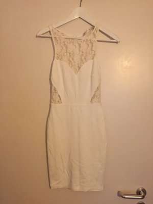 Zara Vestido cut out blanco