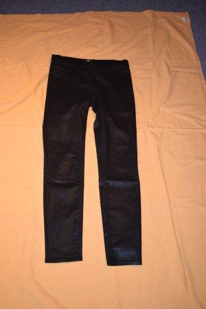 H&M Legging zwart-zilver Gemengd weefsel