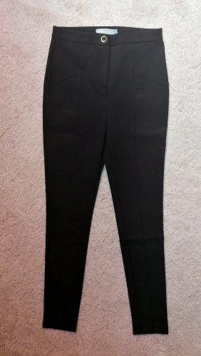 Asos Spodnie garniturowe czarny-złoto