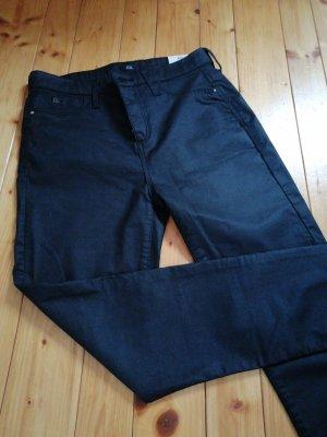 River Island Pantalon cigarette noir coton