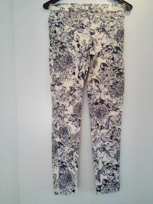 H&M Jeggings white-dark blue cotton