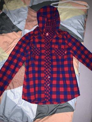 Engelbert Strauss Geruite blouse rood-blauw