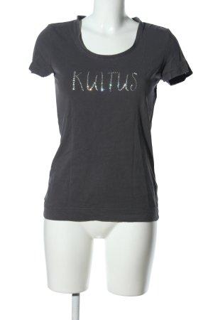 Engelbert Strauss T-Shirt schwarz Schriftzug gedruckt Casual-Look