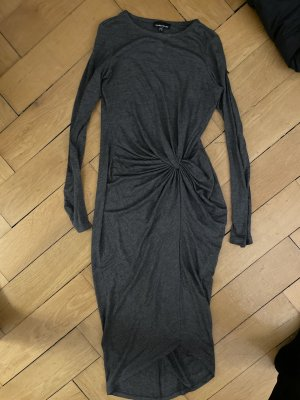 Warehouse Robe crayon gris coton
