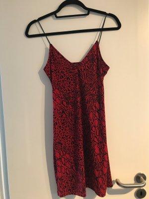 H&M Robe Sweat rouge carmin-noir