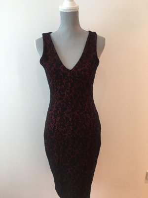 Enges Kleid in schwarz roter Optik von Michael Kors wie neu