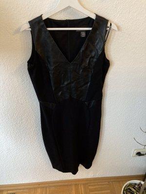 Franklyman Design Vestido de cuero negro