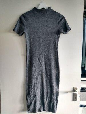Pull & Bear Vestido de tubo color plata-gris Algodón