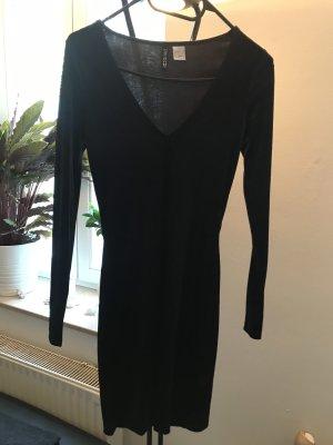 H&M Jerseyjurk zwart