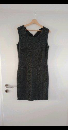 Charles Vögele Ołówkowa sukienka czarny-srebrny