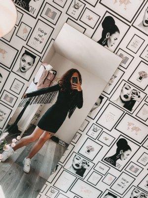 H&M Robe à franges noir