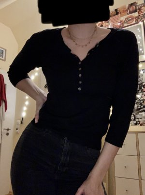 H&M Sweter z krótkim rękawem czarny