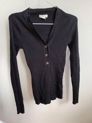 H&M L.O.G.G. V-hals shirt zwart