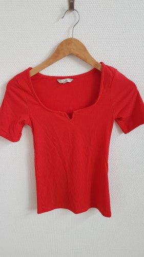 C&A Clockhouse Camisa acanalada rojo