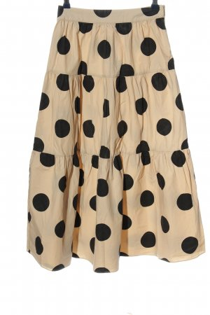 English Factory Broomstick Skirt natural white-black cotton