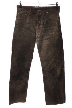 Enjoy Pantalon en cuir brun style décontracté
