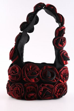 Enjoy Your Life Henkeltasche rot-schwarz Party-Look