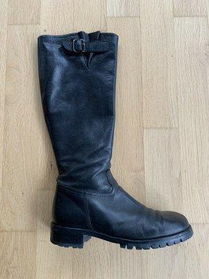 Enrico Antinori Stiefel Leder innen und außen Langschaft Gr 39 schwarz