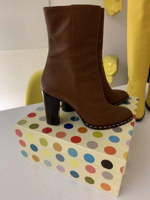 Enrico Antinori Stiefelette Ankle Boots braun - ungetragen - Gr. 40