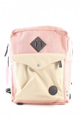 Enter Zaino laptop rosa-crema puntinato stile casual