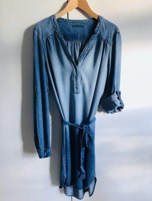 Velvet Robe en jean bleu azur-bleu acier bois