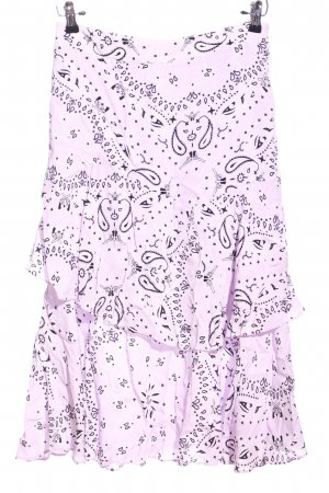 Envii Glockenrock pink-schwarz abstraktes Muster Elegant