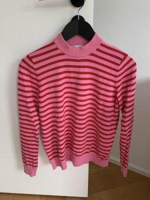 Envii Sweter bez rękawów z cienkiej dzianiny czerwony-malina