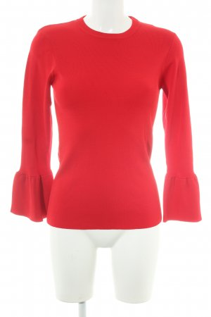ENVY Rundhalspullover rot Casual-Look