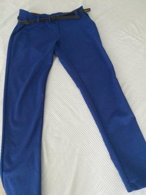 7/8-broek blauw Gemengd weefsel