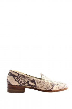 Enzital Moccasins cream-brown animal pattern casual look