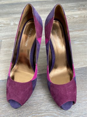 Enzo Angliolini Peeptoes Pumps, tolle Farben!