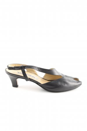 Slingback-Pumps schwarz Business-Look