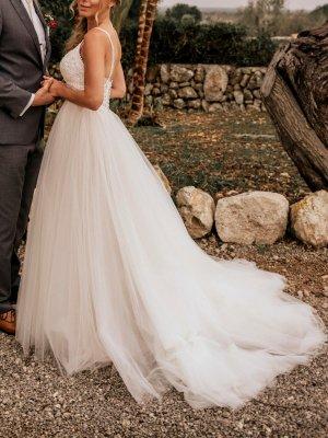 Enzoani Blue Suknia ślubna kremowy-biały