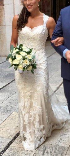 Enzoani Blue Abito da sposa bianco sporco-crema Poliestere