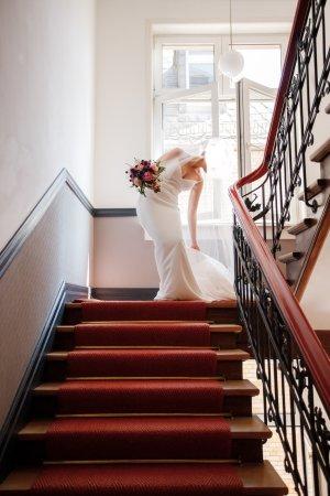 Enzoani Blue Vestido de novia multicolor Cordón