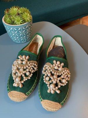 Mia & Jo Espadrille Sandals green-beige
