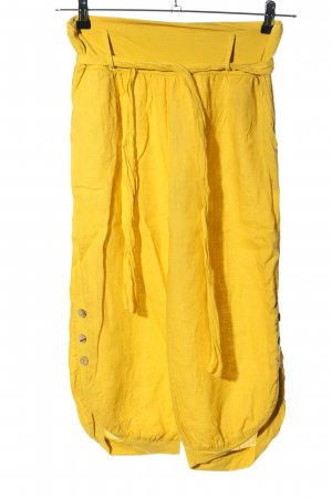 epoca Pantalon en lin jaune primevère style décontracté