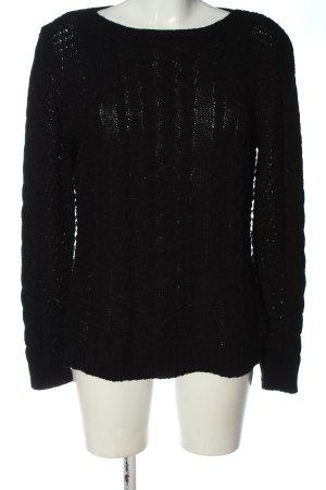 epoca Warkoczowy sweter czarny W stylu casual