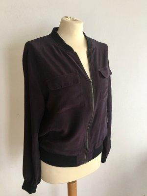 Equipment Blouson black-brown violet wool