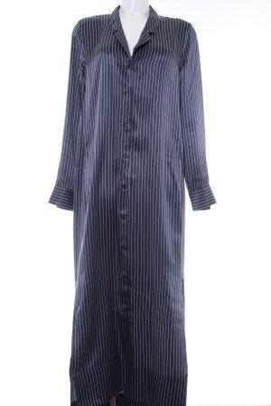 Equipment Blusenkleid dunkelblau Streifenmuster Casual-Look