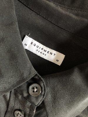 """Equipment Seidenbluse in Schwarz Hemdbluse in M mit aufgesetzten Taschen """"Signature"""""""