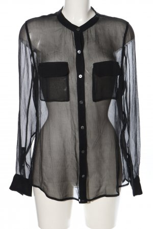 Equipment Transparenz-Bluse schwarz Elegant