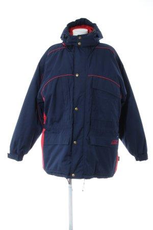 Equipment Winterjacke blau-rot Casual-Look