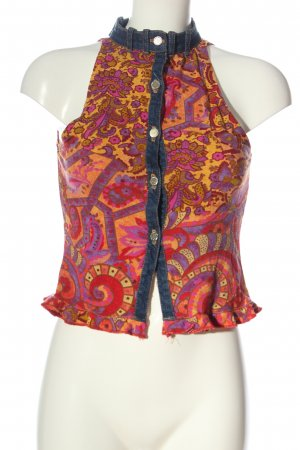 equivogue paris Cropped Top abstract pattern casual look
