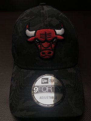 Era Cap 9forty Nba Chicago Bulls Mütze Kappe Black Camo Verstellbar